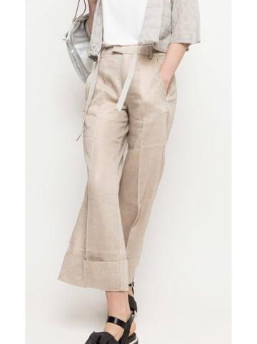 Deni Cler Spodnie w kolorze beżowym