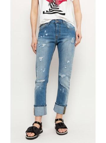 Deni Cler Spodnie w kolorze niebieskim