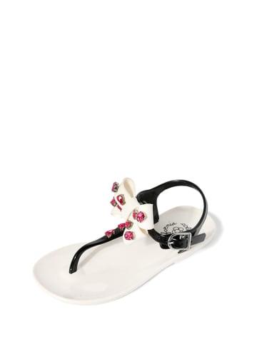 Colors of California Sandały w kolorze czarno-białym