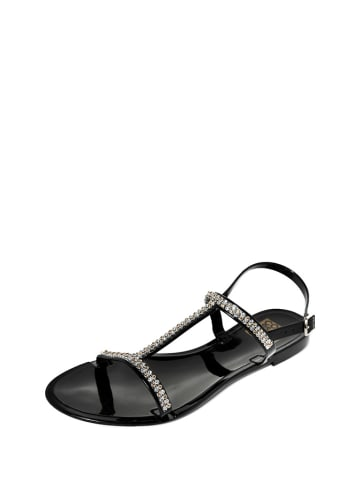 Colors of California Sandały w kolorze czarno-srebrnym