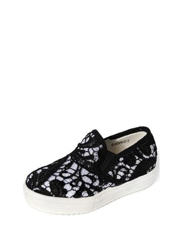 Colors of California Slippersy w kolorze czarno-białym