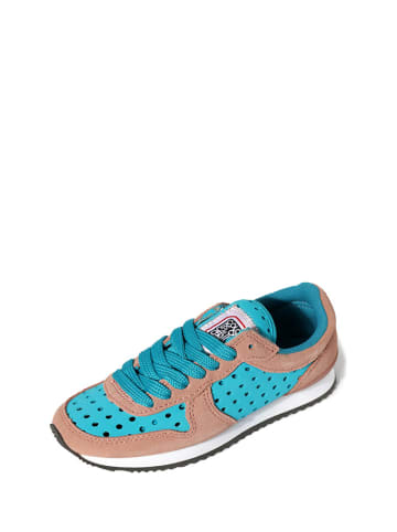 Colors of California Sneakersy w kolorze beżowo-niebieskim