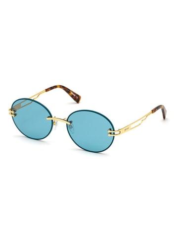 Just Cavalli Damen-Sonnenbrille in Gold/ Blau