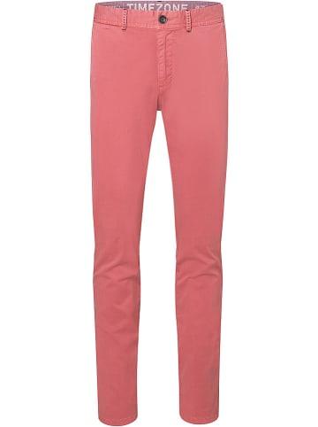 """Timezone Spodnie chino """"Spencer"""" - Regular fit - w kolorze koralowym"""