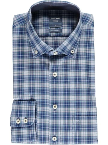"OLYMP Hemd ""Casual"" - Modern fit - in Blau/ Weiß"