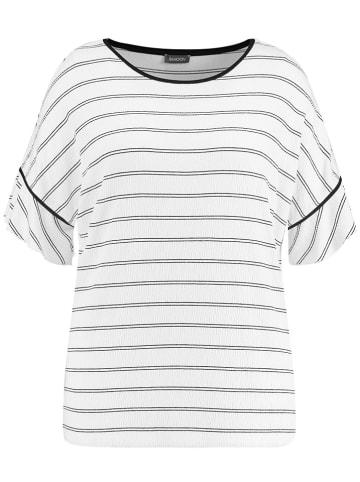 SAMOON Koszulka w kolorze biało-czarnym