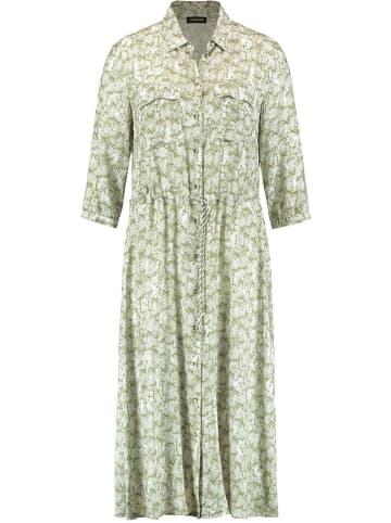 TAIFUN Sukienka w kolorze biało-oliwkowym