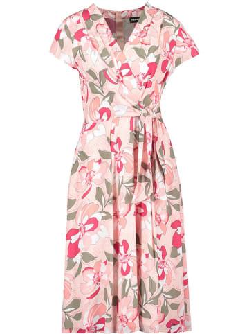 TAIFUN Sukienka w kolorze jasnoróżowo-oliwkowym