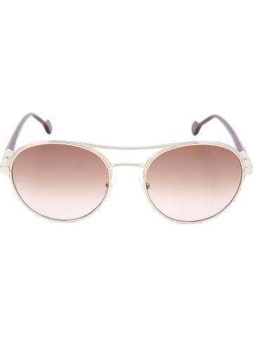 Salvatore Ferragamo Damen-Sonnenbrille in Rot/ Gold/ Braun