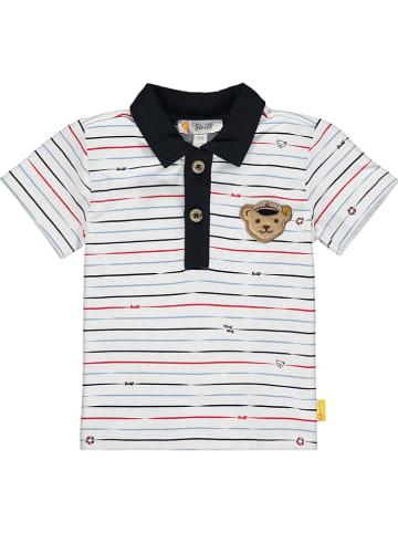 Steiff Koszulka polo w kolorze kremowym ze wzorem