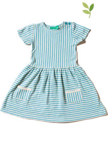 Little Green Radicals Sukienka w kolorze błękitno-białym
