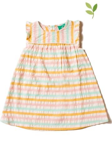 Little Green Radicals Sukienka w kolorze żółto-jasnoróżowym