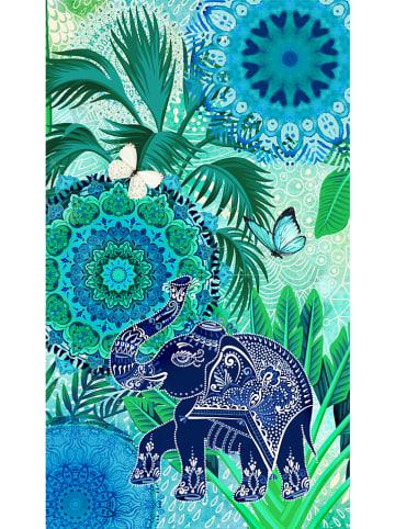"""Hip Ręcznik plażowy """"Isara"""" w kolorze zielono-błękitnym"""