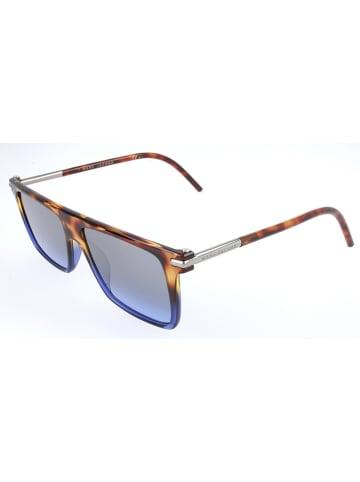 Marc Jacobs Męskie okulary przeciwsłoneczne w kolorze brązowo-niebieskim