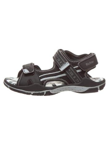 Richter Shoes Sandalen in Schwarz/ Grau