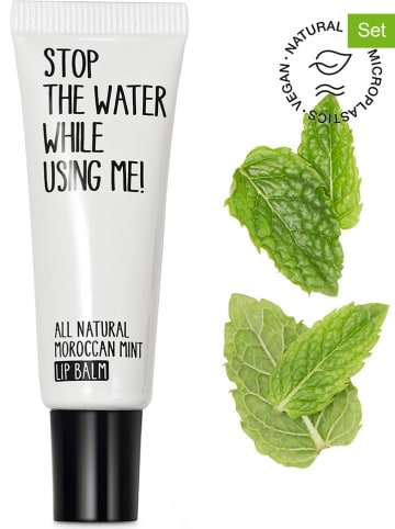 "STOP THE WATER WHILE USING ME! 2-delige set: lipbalsem ""Morrocan Mint"", elk 10 ml"