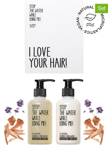 "STOP THE WATER WHILE USING ME! 2tlg. Haarpflege-Set ""Lavender Sandalwood"", je 200 ml"