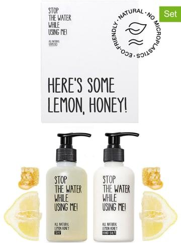 "STOP THE WATER WHILE USING ME! 2-delige handverzorgingsset ""Lemon Honey"", 200 ml"