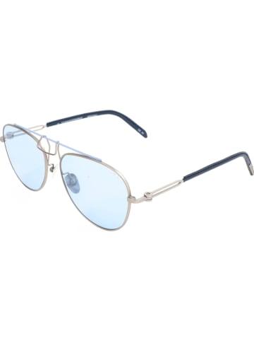Calvin Klein Okulary przeciwsłoneczne unisex w kolorze błękitno-srebrnym