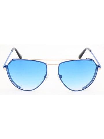 Balmain Damskie okulary przeciwsłoneczne w kolorze srebrno-niebieskim