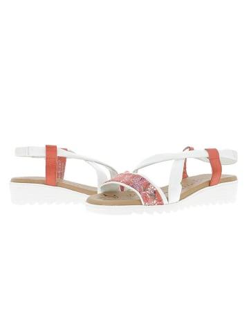 Andrea Conti Leren haksandalen wit/rood