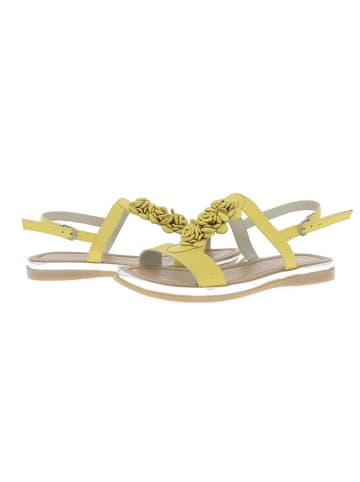 Andrea Conti Skórzane sandały w kolorze żółtym