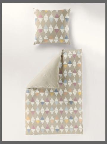 Bierbaum Komplet pościeli satynowej w kolorze beżowym