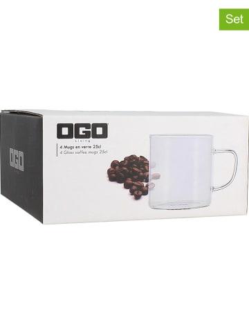 Ogo Living Kubki (4 szt.) do kawy - 250 ml