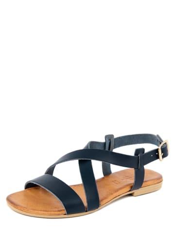 Christianelle Leren sandalen donkerblauw