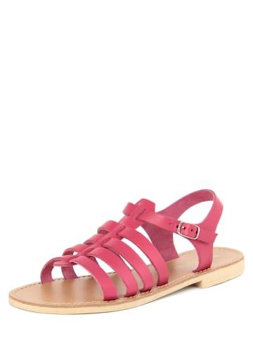 Donna Toscana Leren sandalen fuchsia