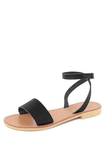 Donna Toscana Skórzane sandały w kolorze czarnym