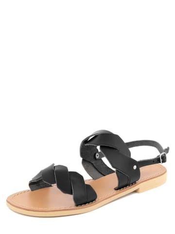 Donna Toscana Leren sandalen zwart