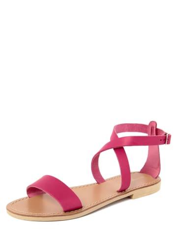 Donna Toscana Skórzane sandały w kolorze różowym