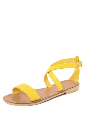 Donna Toscana Leren sandalen geel