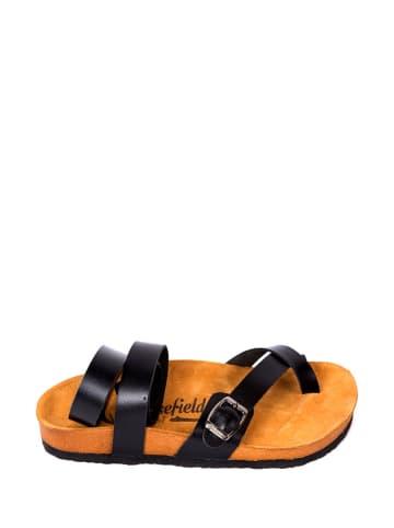Moosefield Leren sandalen zwart