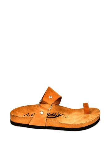 Moosefield Skórzane klapki w kolorze brązowym
