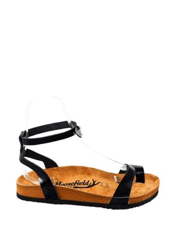 Moosefield Skórzane sandały w kolorze czarnym