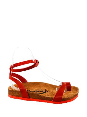 Moosefield Skórzane sandały w kolorze czerwonym