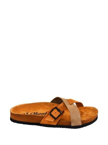Moosefield Leren slippers bruin