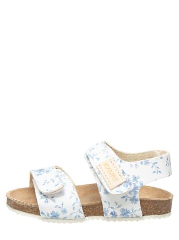 "KAVAT Leren sandalen ""Bomhus XC"" wit/lichtblauw"