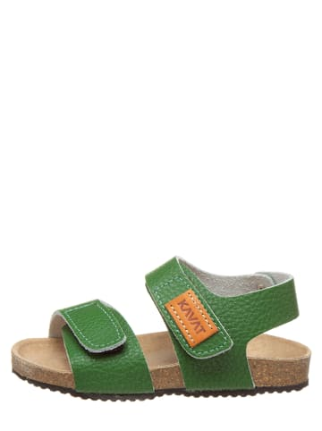 "KAVAT Leren sandalen ""Bomhus XC"" groen"