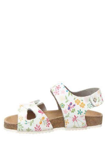 """KAVAT Leren sandalen """"Bomhus XC"""" wit/meerkleurig"""