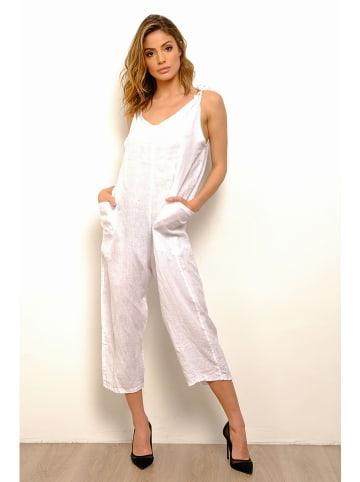 "100% Linen Leinen-Jumpsuit ""Rachel"" in Weiß"