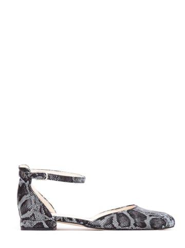 Zapato Skórzane baleriny w kolorze czarno-białym