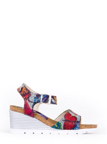 Zapato Skórzane sandały z kolorowym wzorem
