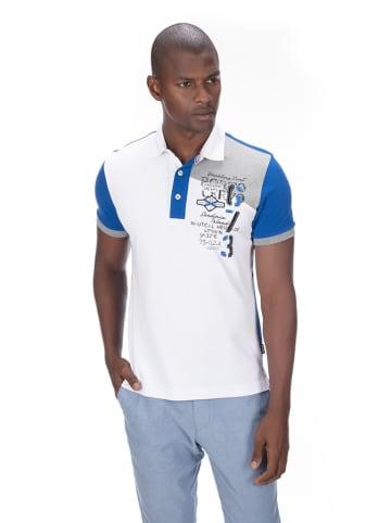 Galvanni Koszulka polo w kolorze biało-niebieskim