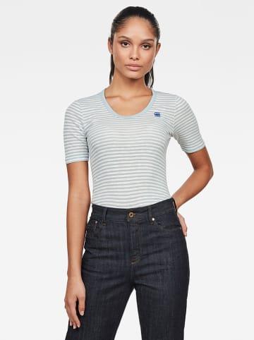 G-Star Shirt lichtblauw/wit