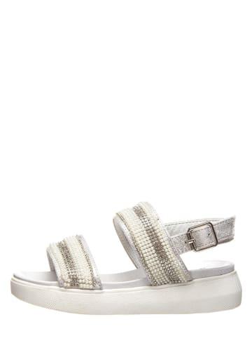 Miss Sixty Sandały w kolorze srebrnym