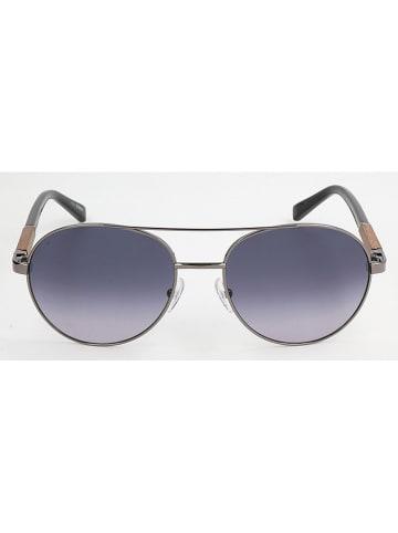 Ermenegildo Zegna Herenzonnebril zilverkleurig/grijsblauw