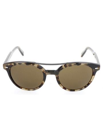 Ermenegildo Zegna Męskie okulary przeciwsłoneczne w kolorze brązowym
